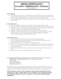Administrative Assistant Job Description Resume template Executive Assistant Job Description Template 36