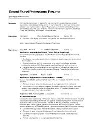 Enchanting Sample Resume Functional Summary On Functional Summary