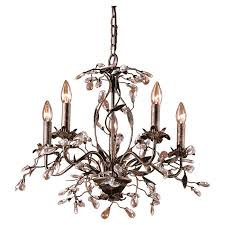 nice 5 light chandelier house of hampton 5 light crystal chandelier reviews wayfair