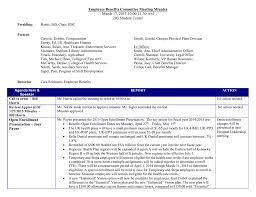 Employee Benefits Committee Meeting Minutes 203 Student Center