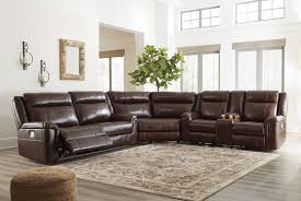 leather reclining sectional. Perfect Leather Wyline  Coffee 3 Pc Power Reclining Sectional In Leather H