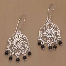unicef market handcrafted onyx chandelier earrings from bali dreamy shower