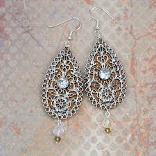 embellished leather teardrop earrings 11