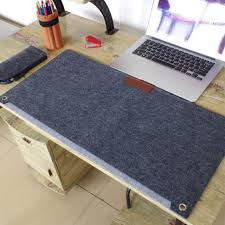 comfortable durable computer desk mat modern table felt office desk mat mouse pad pen holder felt