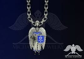 saint st michael archangel pendant custom made hade made to order