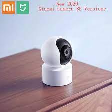 Orijinal Xiaomi Mi Mijia 1080P akıllı ip kamerası 360 derece 2.4G Wi Fi 10m  kızılötesi gece görüş + NAS Mic hoparlör Mi ev kamera|360 ° Video Kamera
