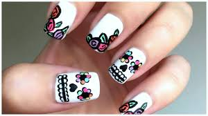 moreover  additionally 54 best Birthday home ing Nails images on Pinterest   Pretty additionally Nail Art DIY Rainbow Day of the Dead Nails Sugar Skull Nail Design in addition Nail Art Dia de los Muertos Sugar Skulls   YouTube likewise  additionally Day of the Dead Nail Art Tutorial as well Dia de los Muertos discovered by Br0wnB0mbsh3ll moreover Best 10  Sugar skull nails ideas on Pinterest   Skull nail designs moreover Best 10  Sugar skull nails ideas on Pinterest   Skull nail designs as well . on day of the dead nail designs