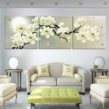 3 pieces set magnolia flower wall art painting square living home decoration picture on canvas on magnolia canvas wall art with 3 pieces set magnolia flower wall art painting square living home