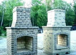 prefabricated outdoor fireplace kits stone prefab modular kit canada
