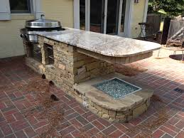 Kitchen Islands With Granite Countertops Picture Of Outdoor Kitchen Brick Island With Granite Countertop