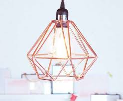 11 fantastic rose gold wire pendant light photos