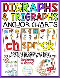 Digraphs Trigraphs Anchor Charts Ela Anchor Charts