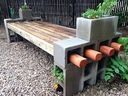 Cinder Block Bench Plans My Take On The Cinder Block Bench Using Fence Wood  My Take