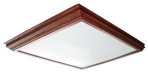 Wood Fluorescent Light Fixtures Home Lighting Design Ideas