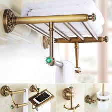Best Bath Decor bathroom hardware accessories : Emerald Brass Green Stone Bathroom Hardware Set Antique Carved ...