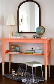 Furniture for small entryway Entryway Decorating Furniture Entry Way Orange Color Of Long Entryway Table Foyer Furniture Small Entryway Tables Narrow Entryway Table With White Wall And Black Laminate We Heart It Furniture Entry Way Orange Color Of Long Entryway Table Foyer