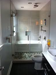 Illustration of Efficient Bathroom Space Saving with Narrow Bathtubs for  Small Bathroom Ideas
