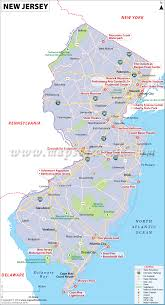 new jersey map map of new jersey (nj) usa