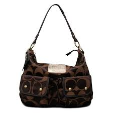 Coach Coach Monogram Logo Large Coffee Shoulder Bags EOE Is The World S  Famous Brand To