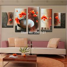 Wall Art Paintings For Living Room Popular Orange Wall Art Buy Cheap Orange Wall Art Lots From China