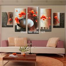 Modern Wall Paintings Living Room Popular Orange Wall Art Buy Cheap Orange Wall Art Lots From China