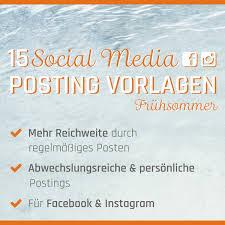 Social Media Posting Paket Frühsommer