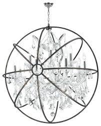 chrome orb chandelier innovative chrome orb chandelier orb chandelier chrome clear crystal modern chrome orb crystal ribbon pendant chandelier