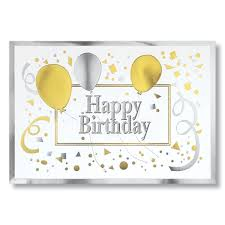 Happy Birthday Business Card Wpg Gold And Silver Happy Birthday Card