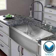 spring faucet single tub stainless steel sink vigo stainless