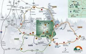 Washington State Mileage Chart Mt Rainier Area Map Maps Charts Road Mileage Chart Travel