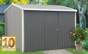our heavy duty steel garden shed