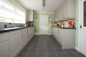 Bespoke Mint Green and Light Grey Painted Kitchen contemporary-kitchen