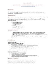 Free Restaurant Resume Templates Resume Examples For Restaurant