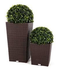 patio furniture sets  modern wicker style tall flower pot on