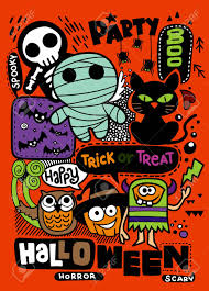 Design Party Invitations Halloween Party Invitation Card Cute Pumpkin Ghosts Kids And