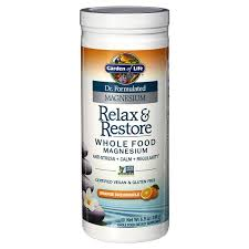 garden of life dr formulated relax re magnesium orange dreamsicle