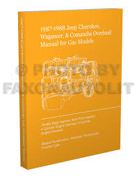 1987 jeep cherokee wagoneer original wiring diagram schematic 1987 1988 jeep cherokee wagoneer c che overhaul manual reprint gas