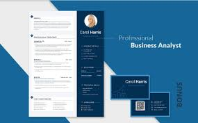 Business Analyst Modern Resume Template 65 Eye Catching Cv Templates For Ms Word Browsify Corporation