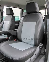 ford galaxy 2nd gen black grey leatherette seat covers