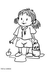 Disegni Di Bambine E Ragazze Da Stampare E Colorare Portale Bambini