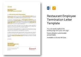 Employment Termination Letter Templates 9 Sample Employee Termination Letters Word Pdf Pages