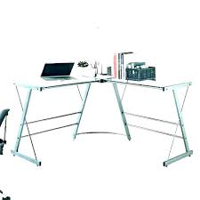 tempered glass desk ikea l shaped furniture inspiring clear top with drawers de