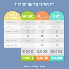 Price Chart Template Interesting Prices Template Kordurmoorddinerco