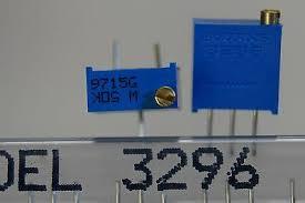 50pc Bourns 3296 3296W 38 Square Trimming Potentiometer 25-turns R 100   1M