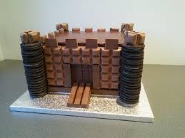 Medieval Castle Cake Designs Chocolate Bar Castle Cake Cadburys Dairy Milk Kit Kat And