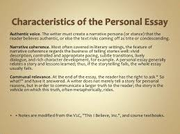 personal writing power point characteristics