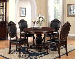 48 round cherry wood pedestal dining table set poundex f2187 48 round dining table sets 48