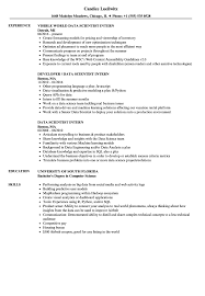 Data Visualization Resume Examples Data Scientist Intern Resume Samples Velvet Jobs 9