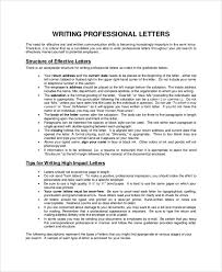 how to write a professional letter sample letter writing 7 documents in pdf word