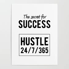 Success Posters Inspirational Secret For Success Poster By Youtopia Society6